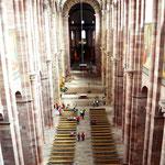 Der Blick aus 20 Metern höhe in den prachtvollen Dom.