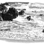海岸の岩 三浦半島、和田長浜あたり。