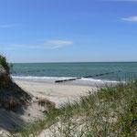 Der Nordstrand, feinsandig und mit glas-klarem Wasser (Karibik-Flair.. ;-))