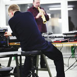 Schulte & Raulf - live performance of sonargemeinschaft - photo: Helmut Hergarten