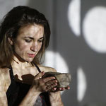 Maria Faust, actress,  performing  in the project - the space between the ears