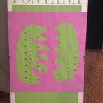 Poster creato in occasione dell'esposizione di Lucio Fontana presso la Galerie Alexandre Iolas a Parigi nel 1966.