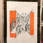 Litografia firmata Mario ROSSELLO