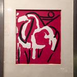 Litografia Marino MARINI - Cavallo e cavaliere 1963