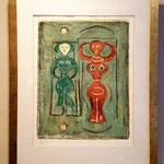 Litografia a colori firmata Massimo Campigli