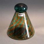 Bottiglia in vetro di Murano, lavorazione a rete, firmata VeArt 1982