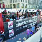 Christopher Street Day 2010 Bannerdruck auf Dekostoff über 11 m