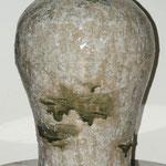 Vase japonisant     Terre émaillée   Hauteur 60cm