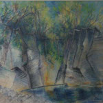 Italie    Le Ceno                   La falaise   Pastel   73x63