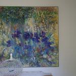 Iris                                  Huole sur toile                100 x 100