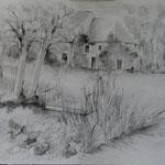 Le Perche :                  Le moulin  Dessin  78 x 63