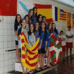 Subcampeonas de España Cadete: Marta López, Marina López, Laura Falceto y María Valverde