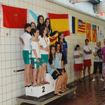 Campeonas de España y RECORD 4x100 Infantil: Sara Rojas, Miriam Marzo, Maria Sancho y Laura Lazaro
