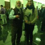 María Valverde con el Escultor del Trofeo Sr. Barrios Ibáñez