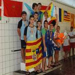 Subcampeones de España Cadete: Alejandro Checa, Miguel Navarro, Daniel Lama y Jorge Marzo