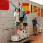 1ª Campeona de España, María Valverde de la Flor y 3ª Laura Juste Morales