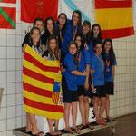 Subcampeonas de España relevos Cadete: María Valverde, Marta Gallego, Laura Falceto y Laura Juste