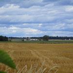 Farmen bis zum Horizont.