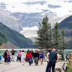 Die reinste Völkerwanderung am Lake Louise........