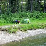 Mein Campingplatz. Am nächsten Morgen fotografiert.