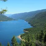 Am Endes des Lower Arrow Lake ist Castlegar. Mein Ziel für diesen Tag.