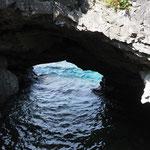 Die Grotte. Höhepunkt des Trails.