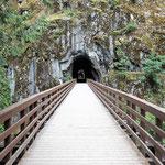 Von der Brücke in den Tunnel