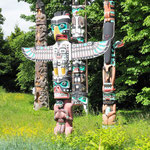 Totems im Stanley Park.