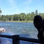 Urlaub vom Trail - Faulenzen am Tulameen River