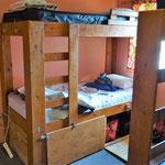 Mein Bett im Schlafsaal im Hostel von Fernie.