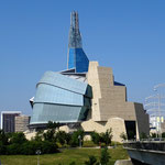 """Die interessante Architektur des """"Museum for Human Rights"""". Man kann bis in die Turmspitze und hat von dort einen tollen Blick über die Stadt."""