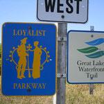 Auf dem Waterfront Trail und dem Loyalist Parkway.
