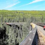 Mit 221 m die längste Brücke.