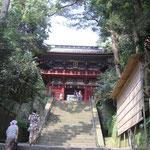 久能山 東照宮 日本平からロープウェイで行かないと1159段登ります。