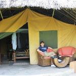 Unser Zelt im Flamingo Hill Camp