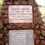 Gedenkstein für Michael Grzimek