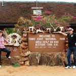 Eingang zum Tsavo Ost NP
