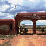 Eingang zum Amboseli NP