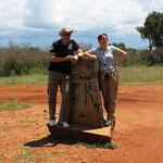 Grenzstein zu Tansania