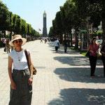 im modernen Tunis unterwegs