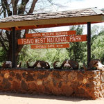 Eingang zum Tsavo West NP