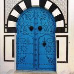 typische Tür in Sidi bou Said