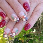 Naturnagelverstärkung (Acryl),Farbe( 6 Nägel) + Farbverlauf(4 Nägel) Design (4 Nägel)+Pinselmalerei (4 Nägel) nur52€