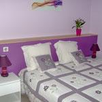 Chambres d'hôtes Les Lavandes Rocamadour : chambre Pivoine