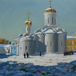 Trinity cathedral, St Sergius monastery, near Moscow - Acrylic - Sold to private customer