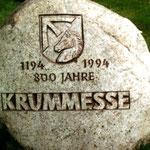 Gedenkstein zur 800-Jahr-Feier vom Bildhauer Axel Döhler