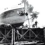 Der Maschinist auf dem Binnenschiff ROSSEL gab beim Kommando STOP ausversehen Vollgas (19.09.1962 ca . 8:00 Uhr)