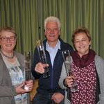 Ehrung 25 Jahre - Gratulation an Mathilde Sohm, Rainer Madlener, Gerda Huber