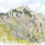 春の西山・華厳山 西山でもこの荻野高取山の北尾根から見る景観は低山とは言え丹沢でも随一と思います 春はヤマザクラと芽吹きの木々がうっとりするような美しさを見せます