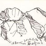 韮崎にて茅ヶ岳(復路)